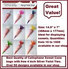 Top Quality MULTI LISTING Cone Bags / Party Bags / Sweets / With FREE Twist Ties