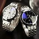 2016 Waterproof Men's Date Noctilucent Stainless Steel Glass Quartz Analog Watch