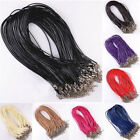 10Pcs Real Leather Chains Necklace Charms Findings String Cord 1.5mm 9 Colors