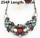 Fashion Women Jewelry Pendant Crystal Choker Chunky Statement Chain Bib Necklace <br/> 250 Styles Extra 10% OFF  When you spend $15+