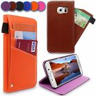 For Samsung Galaxy S6 Edge Plus Leather Slider Card Wallet Stand New Case Cover
