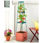 Tomato Planter or Grow Tower Planter w/ Water Well for Self Watering 3 Tier Cage