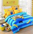 New 2016 Despicable Me Minions Bedding Set 4pc Queen King Bed Cotton Gift RARE