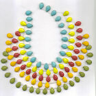 Turquoise Magnesite Flat Top Drilled Teardrop Beads 14mm x 10mm