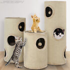 Cylinder Cat Scratching Tree Post Pad Activity Centre Furniture Sisal Beige