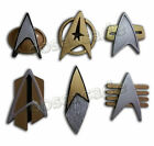 Star Trek COSplay Starfleet Captain Badge Combadge Rank Pip Pin Insignia Brooch on eBay