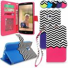 For Alcatel One Touch Fierce XL PU Leather Magnetic Flip Card Holder Wallet Case
