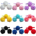 New Baby Elastic Headbands Toddlers Foot Flower  Accessories Hair Band 1set/3Pcs