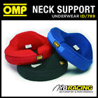 ID/789 OMP RACING ANATOMIC PADDED NECK SUPPORT IN NOMEX ADULT SIZE - 3 COLOURS