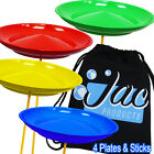 Set of 4 Spinning Plates & Sticks - Circus Kids Skill Toy & Jac Products Bag