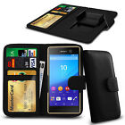 Clip On PU Leather Flip Wallet Book Case Cover For Sony Xperia Z5