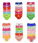 Pack Lot 1 or 6 pc Polka Dot Stripe Kid School Girl Cotton Bikini Panty S/M/L/XL