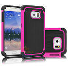 Armor Shockproof Rugged Rubber Hard Case Cover for Samsung Galaxy S6 / S6 Edge