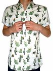 NEW retro vtg indie SHIRT cactus lazy western 70's 80's 90's oaf short sleeve