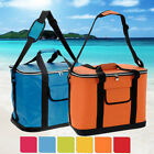 EXTRA LARGE 30 LITRE INSULATED SUMMER BEACH COOLER COOL BAG BOX ICE BLOCKS PACK