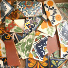 Pounds of Broken Talavera Mexican Ceramic Tile in Mixed Decorative Designs #001