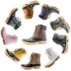 Women Winter Warm Snow Boots Ankle Buckle Duck Padded Mud Rubber RainBoots Shoes