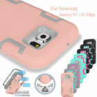 Hybrid Rubber Rugged ShockProof Defender Hard Case Cover For Samsung Galaxy S7