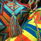 Hand Made Shoulder Bags Colombian South American Indians Wayuu Tribe Mochila Bag