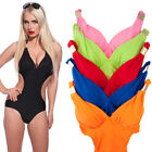 Women's Monokini One Piece Cut-Out Swimsuit Halter Tie Neck Back Lightly Padded