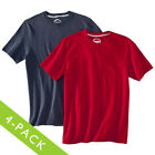 4 Men's Jockey T-Shirts Crew Neck Advanced Stay Dry 100% Cotton Athletic Running