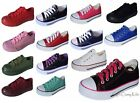 Внешний вид - New Boys Girls Youth Classic Low Top Canvas Tennis Shoes Lace Up Sneakers Kids