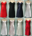 Women Lady Satin Lace Strappy Nightdress Nightie Nightgown Chemise Plus Size #LZ