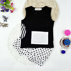 Baby Boys Girl Infant Newborn Kids Cute T-shirt Tops+Polka Dot Pants Outfit Sets