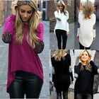 Women Fashion Sexy Summer Solid Long Sleeve Blouse Shirt Tops Loose T-Shirt 2016