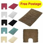 Cotton Plain Twist Loops Bathroom Bath Mat Or Pedestal Toilet Rug Mat Multi