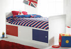 Children's Captains Cabin Bed Shorty (Only 179cm Overall) with Storage Under