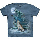 The Mountain Dragon Wolf Moon Fantasy T-Shirt Wolves