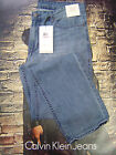 CALVIN KLEIN MEN'S SLIM STRAIGHT FIT LOW RISE ZIP FLY JEANS WATER VAPOR