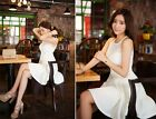 Summer Women's White Sexy Slim Casual Sleeveless Dresses Chiffon Mini Dress S