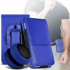 Premium PU Leather Belt Pouch Holster Case & Speaker For Samsung Galaxy J1 Ace