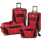 American Tourister Fieldbrook II Four-Piece Luggage Set (Red Black)
