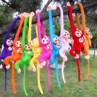 Baby Kids Soft Colorful Plush Toys Cute Monkey Doll Stuffed Gibbons Animal Gifts