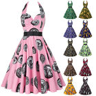 clearance 50S 60S DRESS Vintage Swing Pinup Retro Housewife Cocktail Party Dress