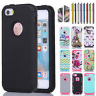 Hybrid Rugged Rubber Hard Shockproof Case Slim Cover For Apple iPhone SE 5 5S
