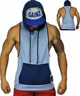 GYM SLEEVELESS HOODIE BODYBUILDING SINGLET HOODIES VEST TANKS STRINGER RACERBACK