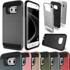Slim Brushed Shockproof Hybrid Case Cover For Samsung Galaxy S3 S4 S5 S6 S7 Edge