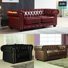 CHESTERFIELD Leather Sofas Sets Red Black Brown Suite Settee Antique