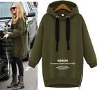 Women Hoodie Jacket Pullover Coat Sweatshirt Hooded Outerwear Tops Coat Sweater