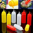 8-32oz Plastic Squeeze Bottles Condiment Dispenser Ketchup Mustard Sauce Vinegar