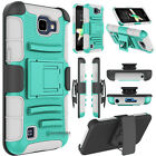 Shockproof Hybrid Rubber Armor Belt Clip Holster Stand Case Cover for Cellphone