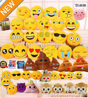 "36 Styles Emoji Emoticon Round Cushion Poo Stuffed Soft 12"" Pillow Plush Gift UK"