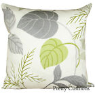 Sanderson Folia Lime Green & Charcoal Cushion Cover