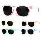 SA106 2 Tone Hipster Pop Color Horn Rim 80s Retro Sunglasses