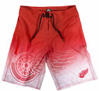 Detroit Red WIngs Men's Polyester Black Gradient Boardshorts Swim Trunks NHL