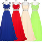 Long Chiffon Evening Party Dress Bridesmaid Prom Gown Cocktail Homecoming New